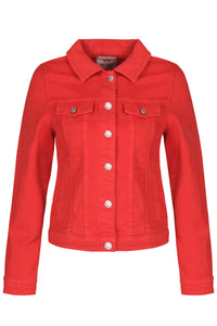 Denim Style Jacket  - Red - NEW ARRIVAL
