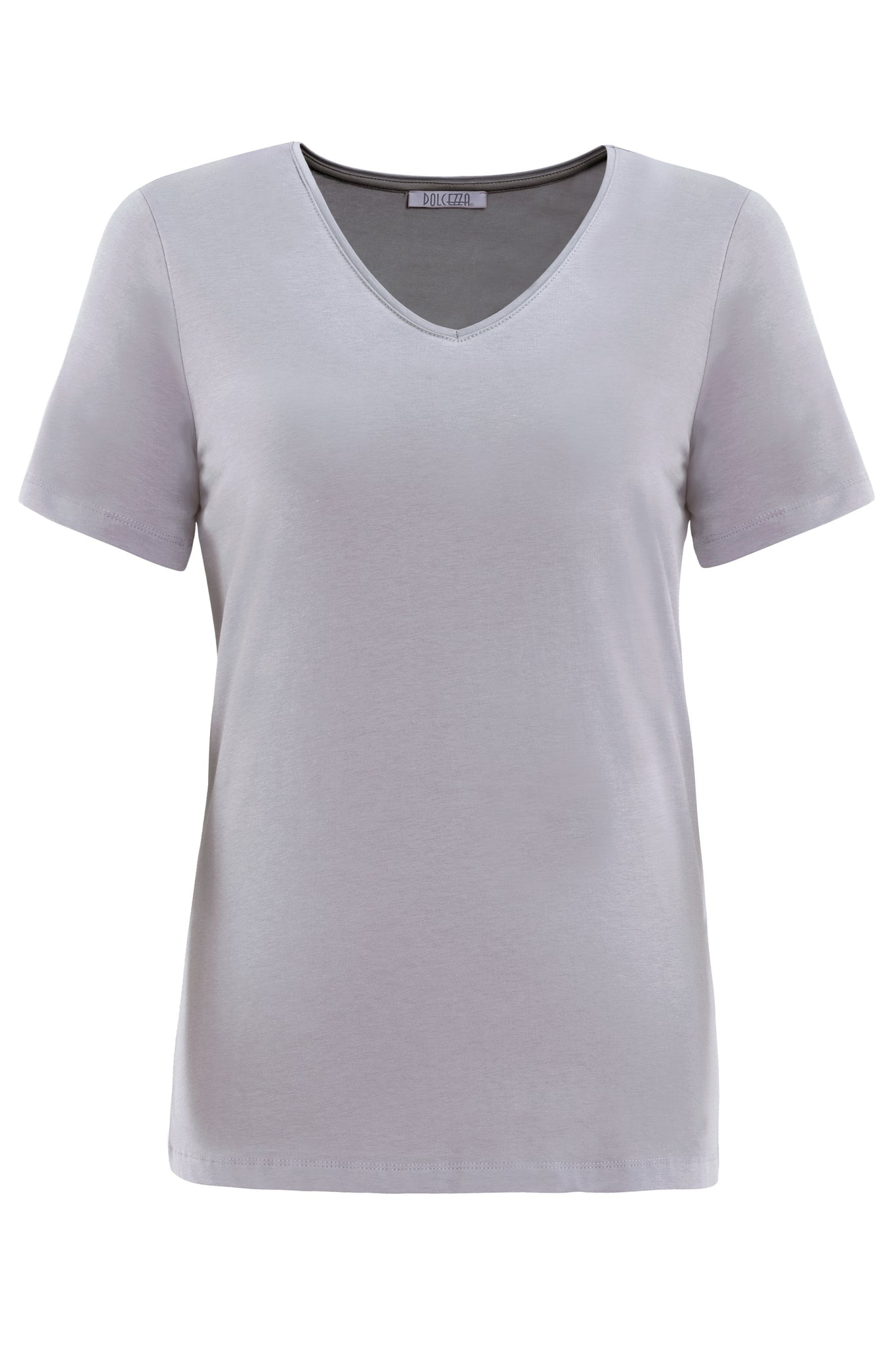 Silver Basic V-Neck T-Shirt -NEW ARRIVAL