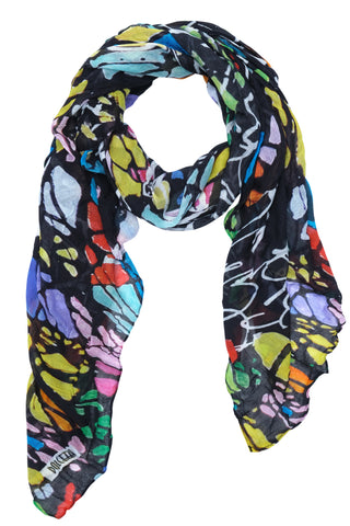 Black Board Print Scarf - NEW ARRIVAL