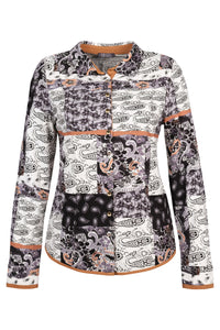 Dolcezza } Graphic Patchwork Blouse