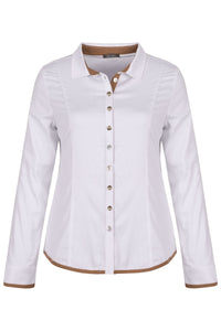 Dolcezza | Blouse with Camel Trim - NEW ARRIVAL