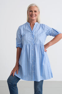 Kaffe | Kahelena Stripe Tunic Shirt - NEW ARRIVAL