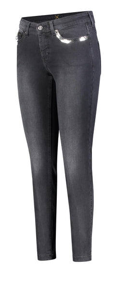 Mac Jeans | Dream Slim - Charcoal Sequin