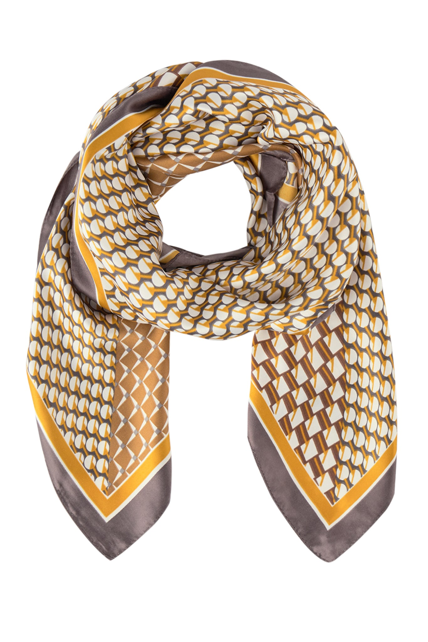 Soya Concept | Golden Geometric Neck Scarf - NEW ARRIVAL