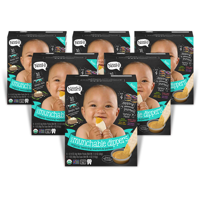 Munchable Dippers, Simply Rice (Pack of 6)
