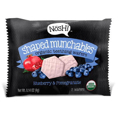 Shaped Munchables Teething Wafers, Blueberry & Pomegranate (Pack of 6)