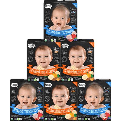 Shaped Munchables Teething Wafers (Variety 6 Pack)