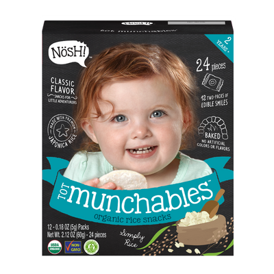 Tot Munchables Rice Snacks, Simply Rice