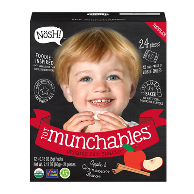 Tot Munchables Rice Snacks, Apple Cinnamon