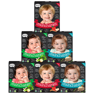 Tot Munchables Rice Snacks (Variety 6 Pack)