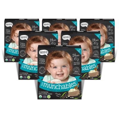 Tot Munchables Rice Snacks, Simply Rice (Pack of 6)