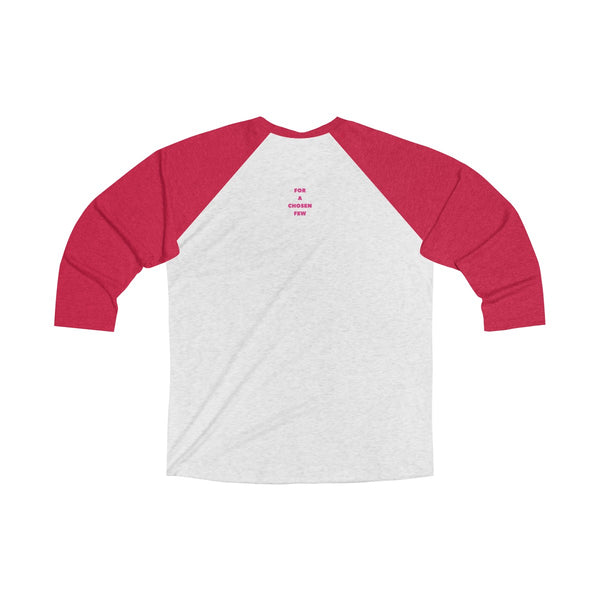 Lone Wolf with red text Raglan Baseball Tee T-shirt