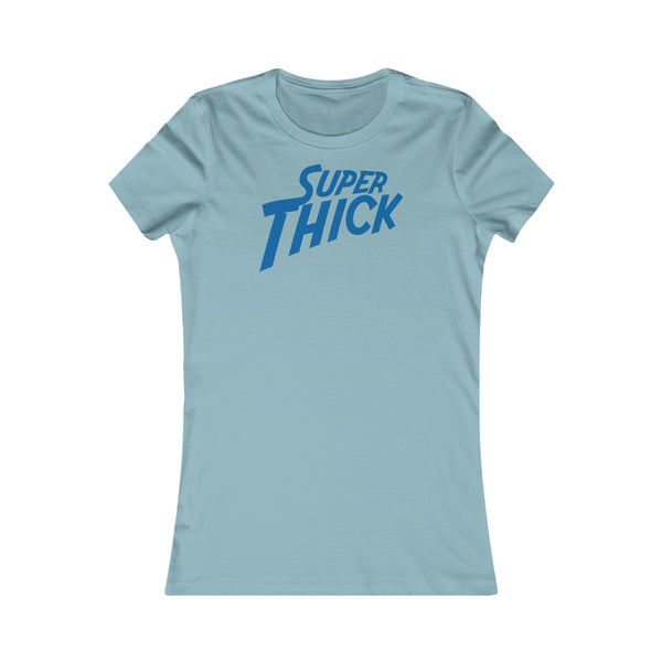 Women's Super Thick with Blue Text - T-Shirts Premium T-Shirt