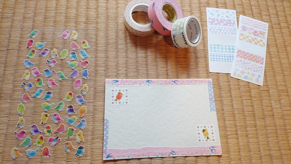 Decorating Spring postcards 4
