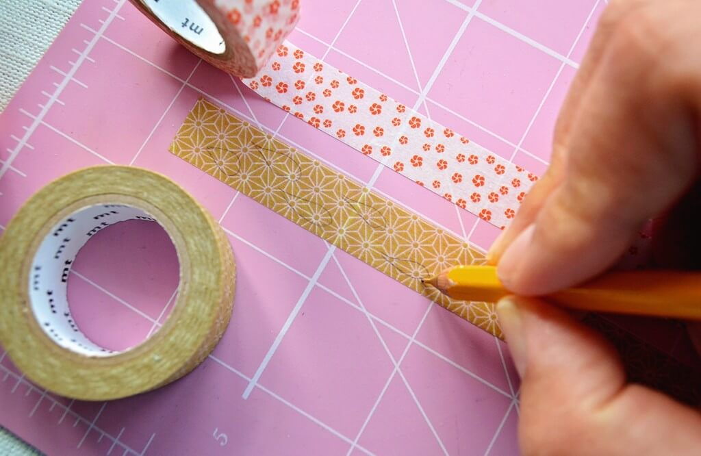 Drawing shapes on washi tape