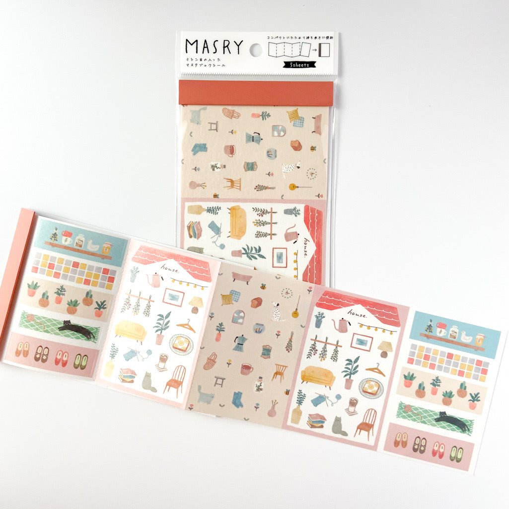 MASRY Masking Stickers Book - Coffee Break