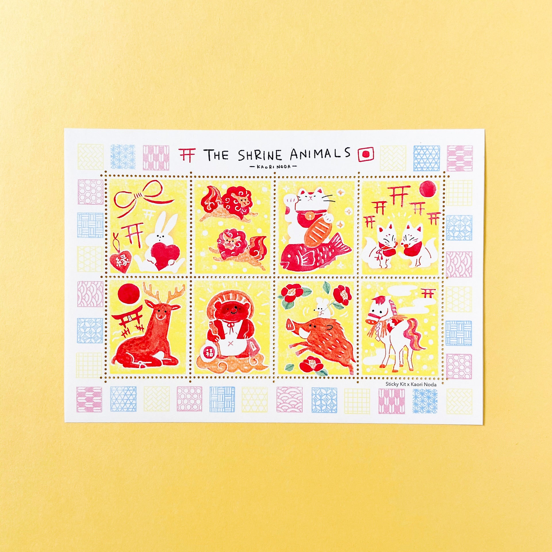 Sticky Kit × Kaori Noda Stamp Stickers