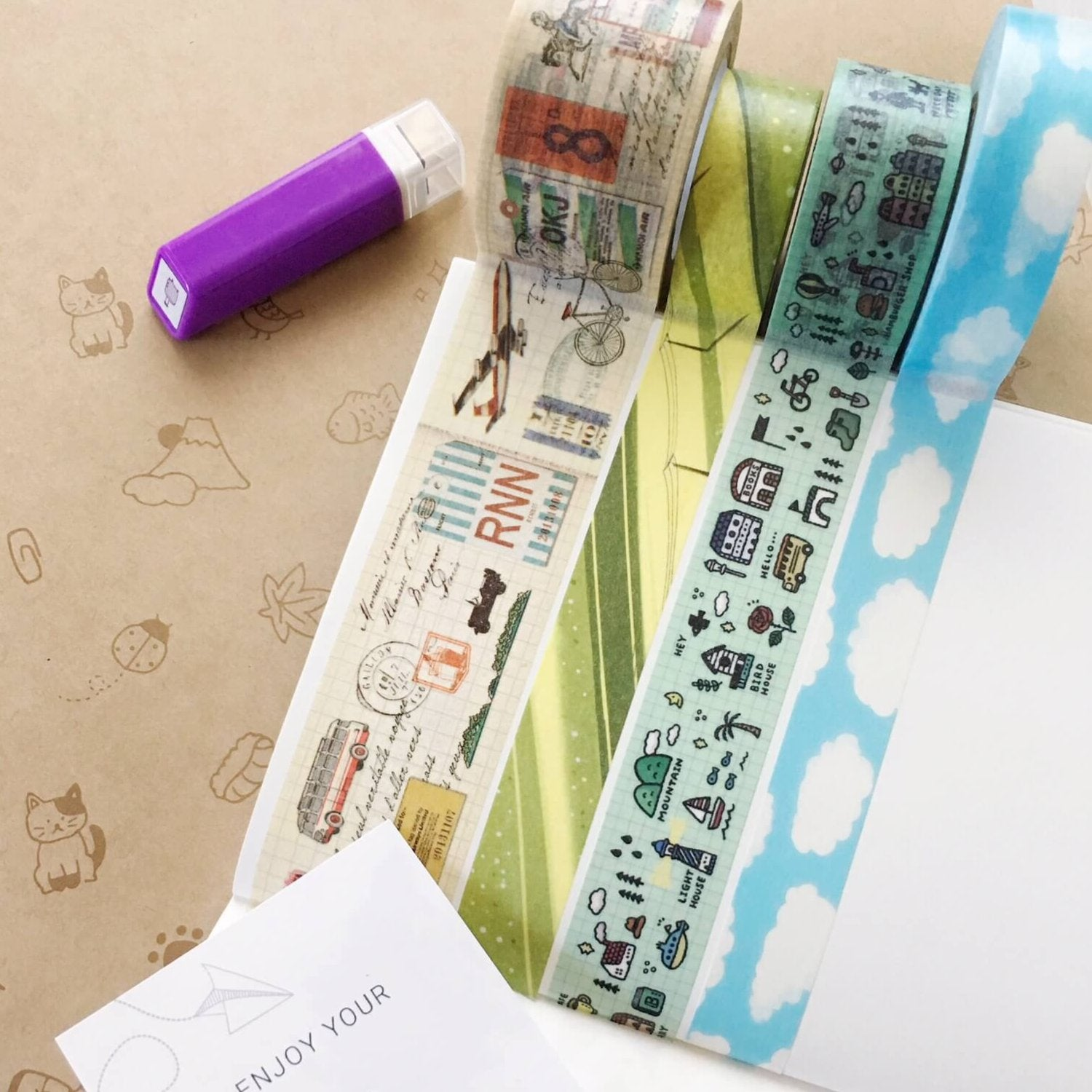 July 2018 Washi Tapes