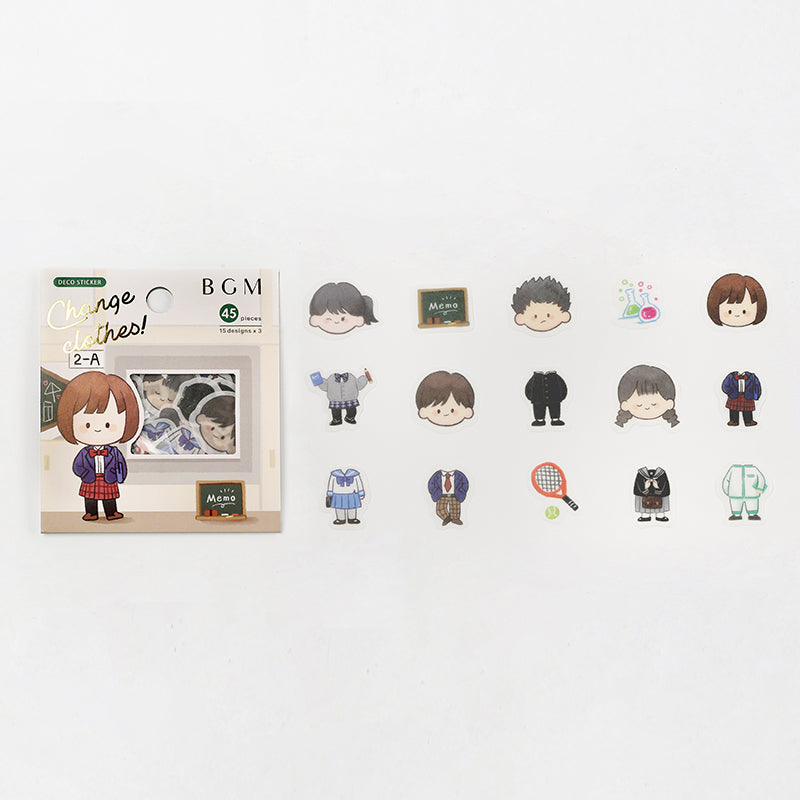 BGM - Change Clothes! - Student - Stickers