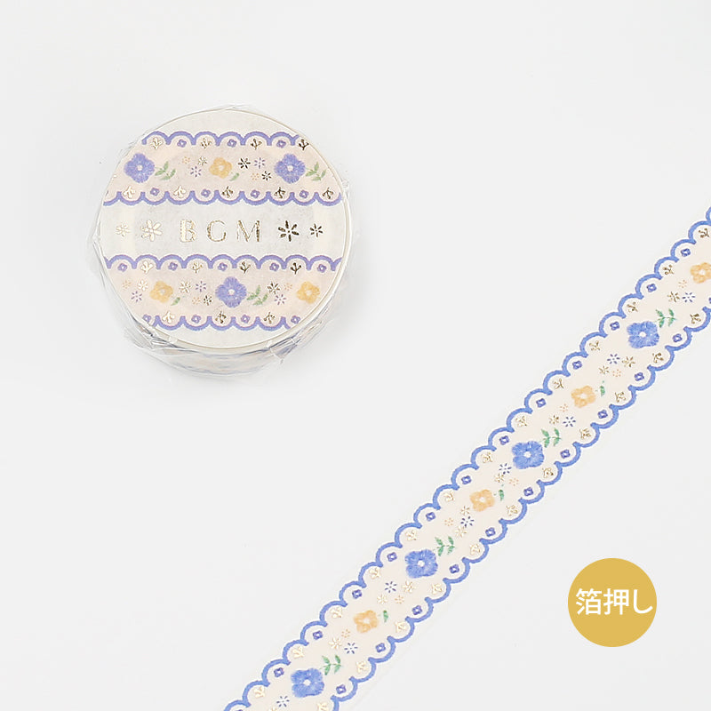 Life Washi Tape - Embroidery - Blue