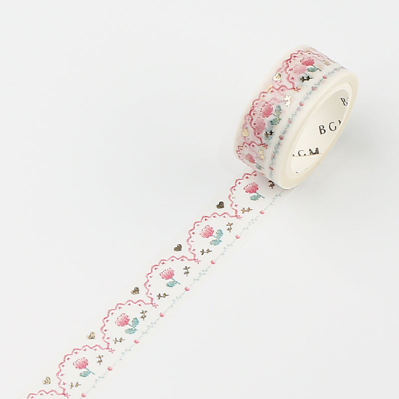 Life Washi Tape - Embroidery - Pink