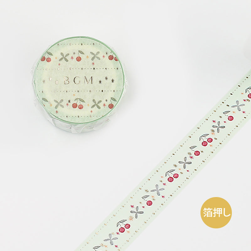 Life Washi Tape - Embroidery - Green