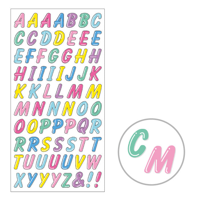 Retro Fancy - Letter Stickers