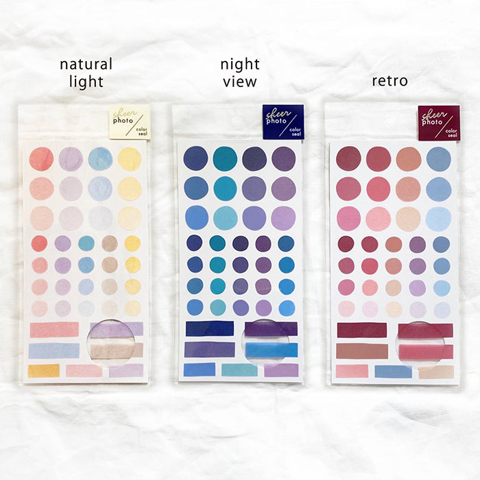 Sheer Photo Color Seal Stickers - Night View