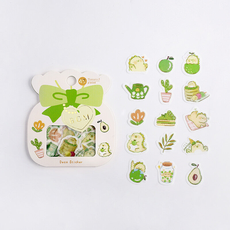 BGM - Matcha & Dragon - Washi Sticker Flakes