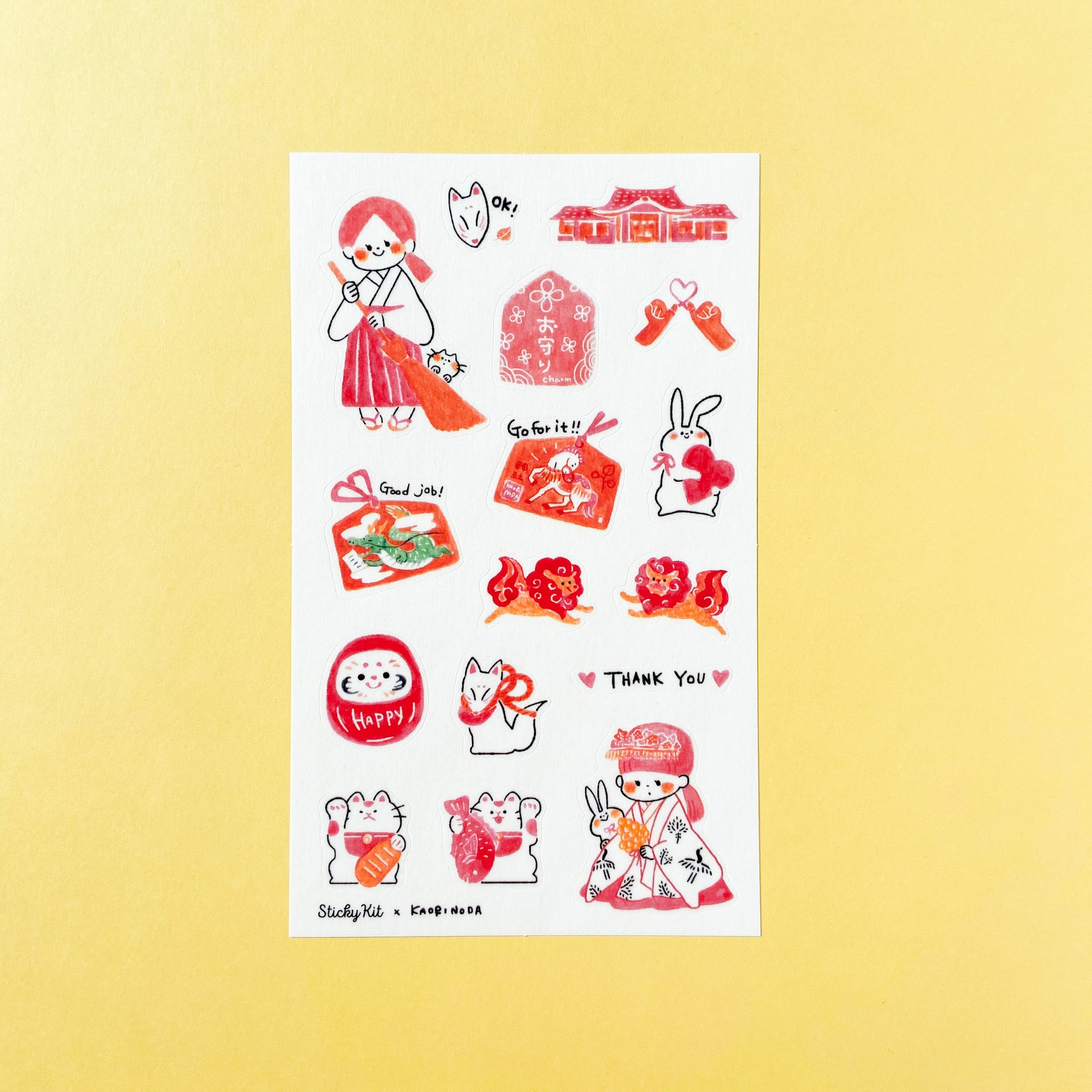 Sticky Kit × Kaori Noda Washi Stickers