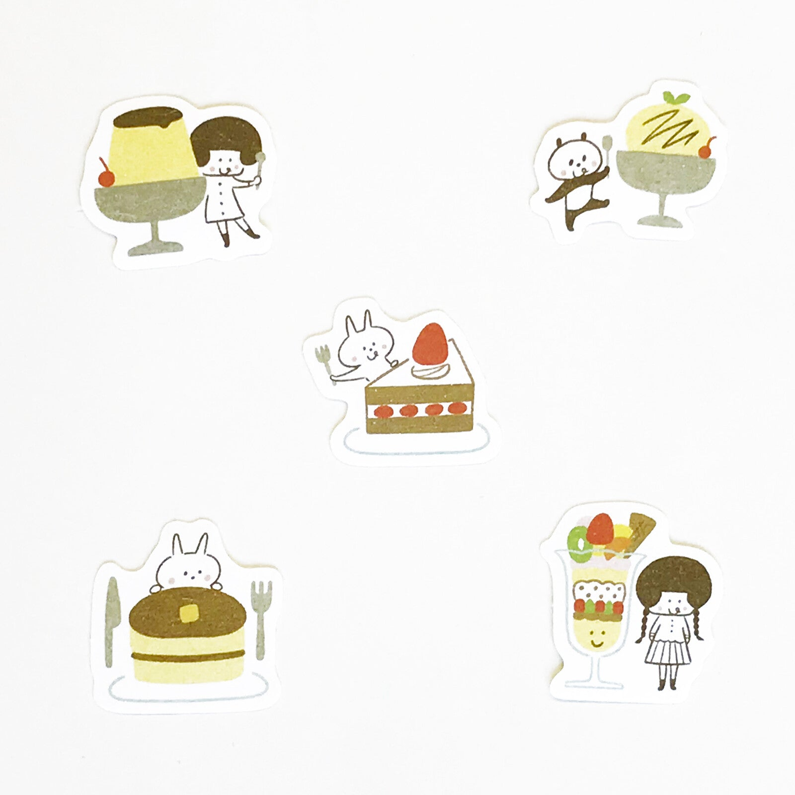 "Papier Platz - ""Kissa Mizutama"" - Sweets - Sticker Flakes"