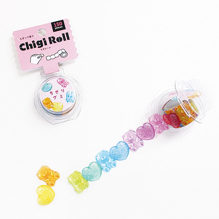 Mind Wave - Chigi Roll - Chigiri Gummy - Perforated Washi Tape