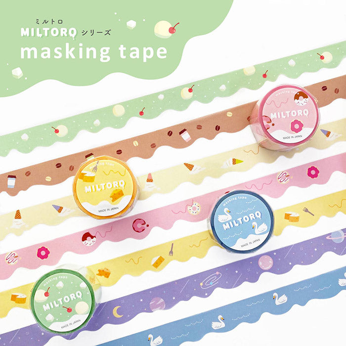 Miltoro Die Cut Washi Tape - Soft Cream