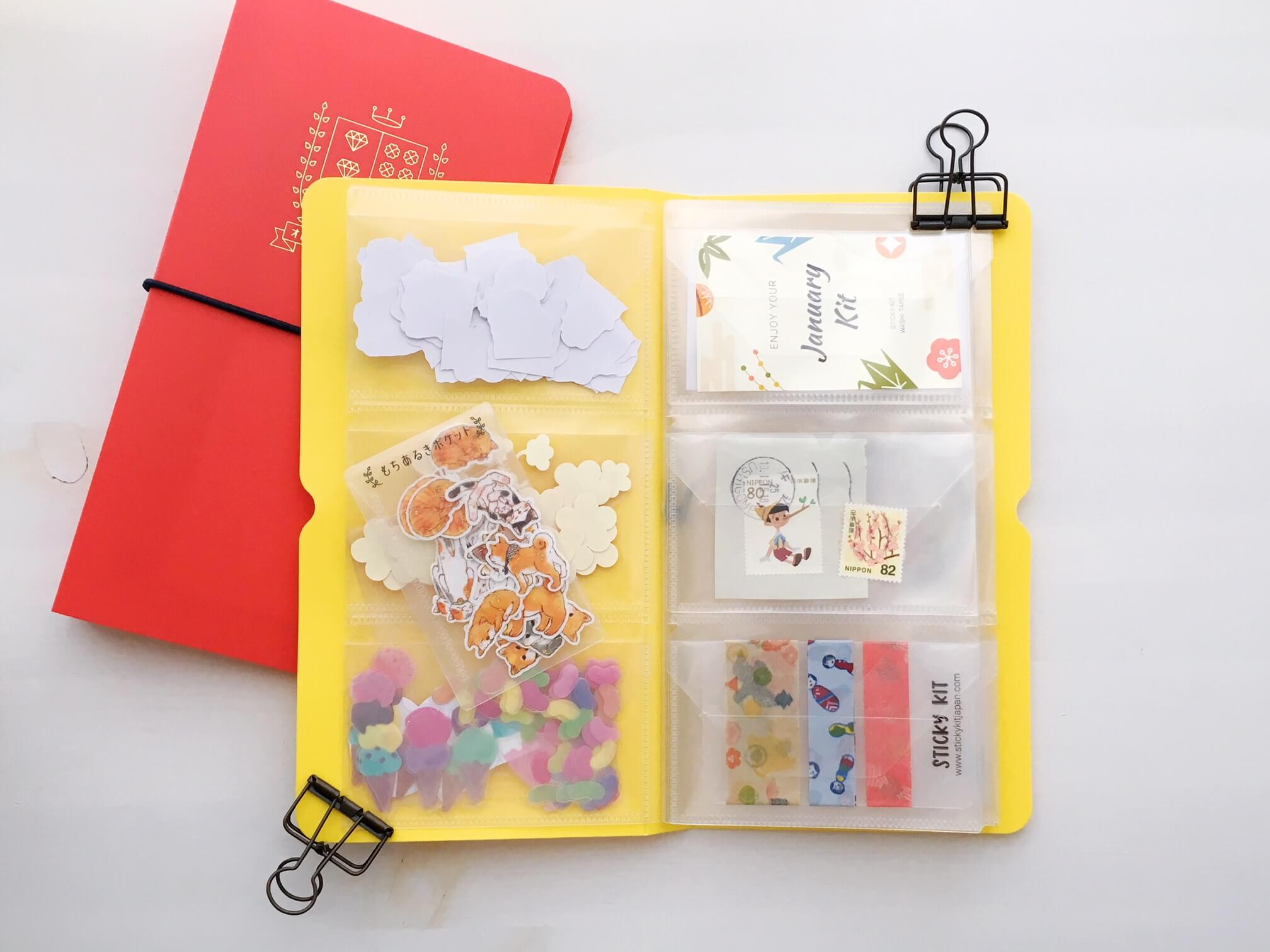 Sticker Flakes Storage Folder