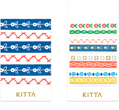 KITTA Slim - Tyrolean - Washi Tape Stickers