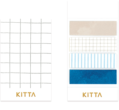KITTA - Linen - Washi Tape Stickers