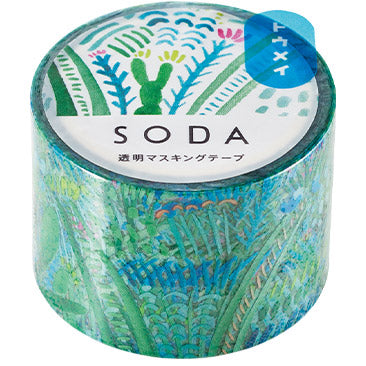 SODA Clear Masking Tape - Garden