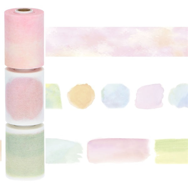 Watercolor - Undated - Perforated Writable Washi Tape (set of 3)