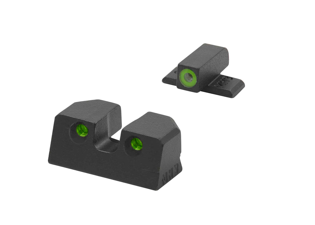 Meprolight Highly Visible Day/Night Self-Illuminated Sights (HVS) for Sig Sauer P Frames, 9MM/0.357 - SharpShooter Optics