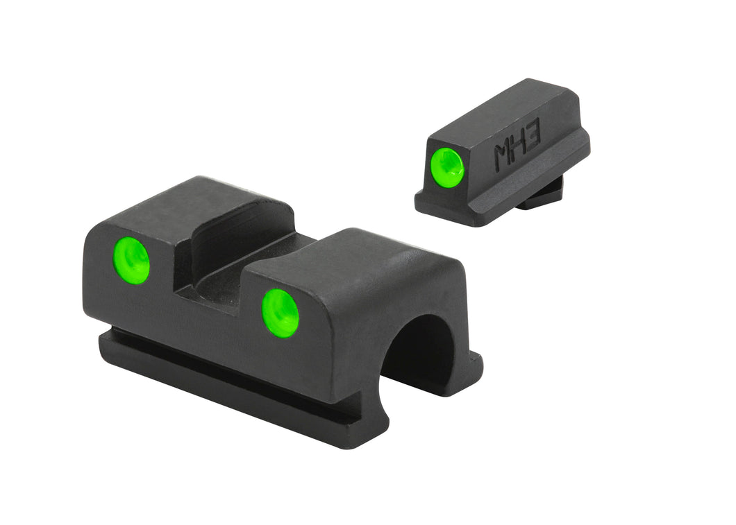 Meprolight Fixed Tru-Dot Night Sights for Walther P99, PPQ 9mm/40 S&W models - SharpShooter Optics