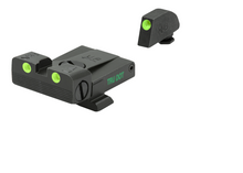 Meprolight Adjustable Tru-Dot Night Sights for Glock models 17, 17L, 19, 22, 23, 24, 25, 31, 32, 33, 34, 35, 36, 37, 38, 39 - SharpShooter Optics