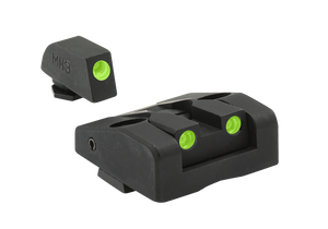 Meprolight Ad-Com Self-Illuminated Tru-Dot Night Sights for Glock models 17, 17L, 19, 22, 23, 24, 25, 31, 32, 33, 34, 35, 36, 37, 38, 39 -