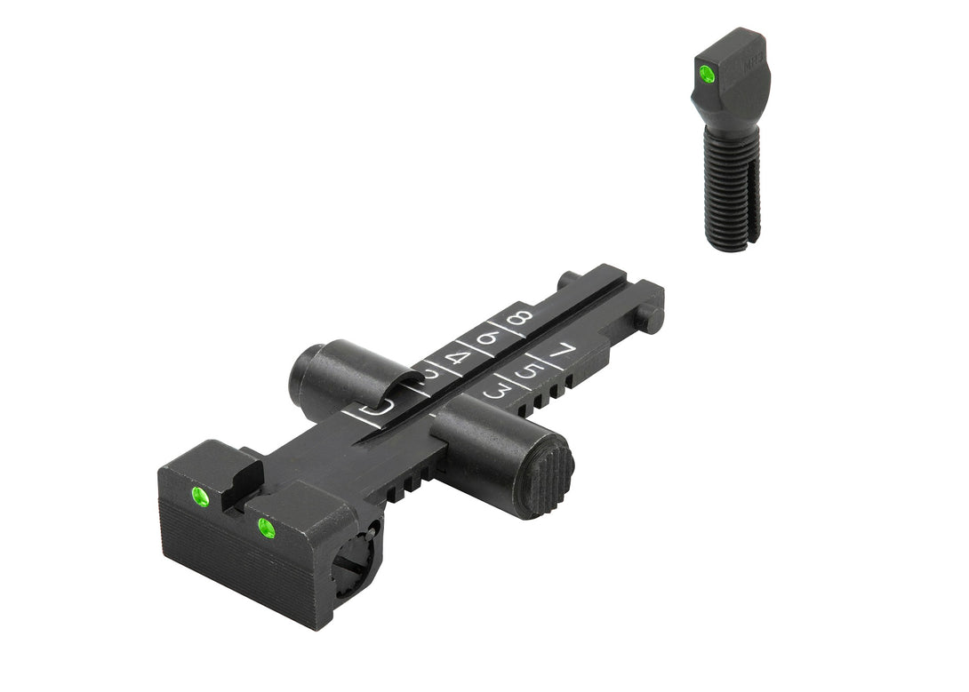 Meprolight Fixed Tru-Dot Night Sights for AK47 Norinco Version Rifles with 800m scale