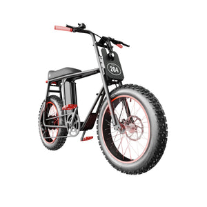 UNI Bobber LT Electric Bike Black Red with 250W and 20x4inch fat wheels