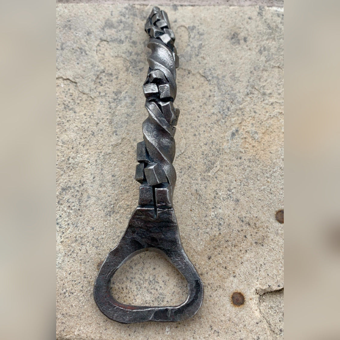 Hand Forged Steel Bottle Opener