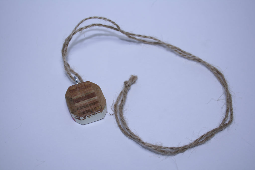 Wooden Racket Core Necklace