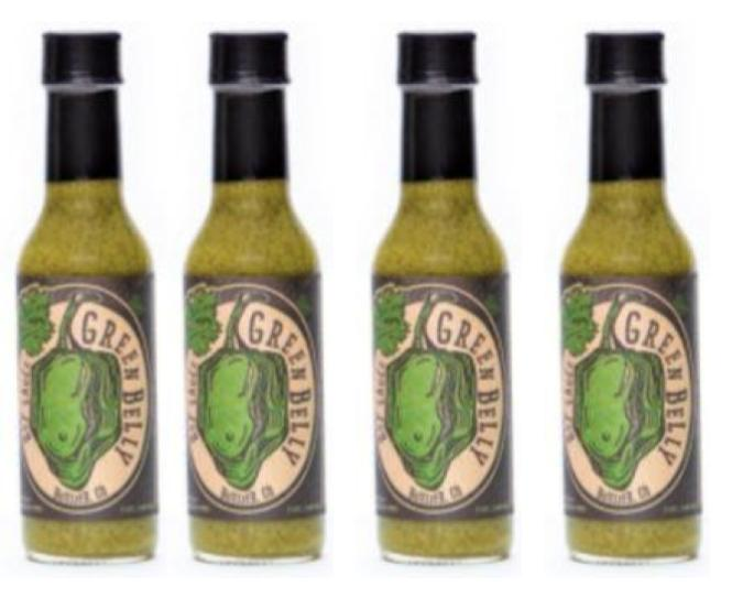 Green Belly Hot Sauce - 4 Pack