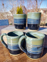 Striped Color-Blended Handmade Pottery