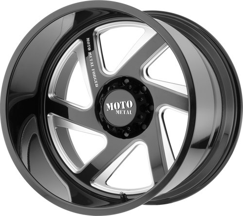 MO400 GLOSS BLACK AND MILLED FORGED MOTO METAL WHEEL