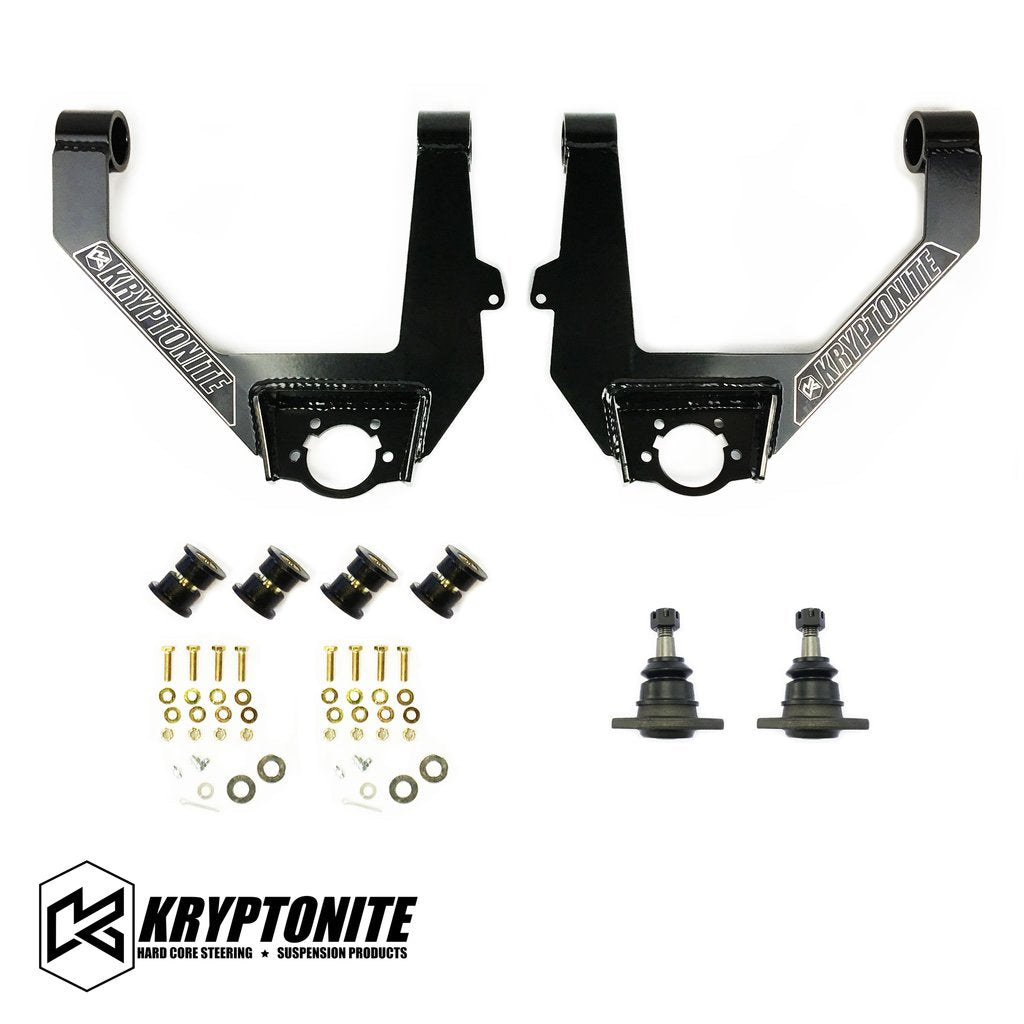 KRYPTONITE STAMPED OR ALUMINUM UPPER CONTROL ARM KIT 1/2 TON TRUCK 6 LUG 2014-2018 (KRUCA13)